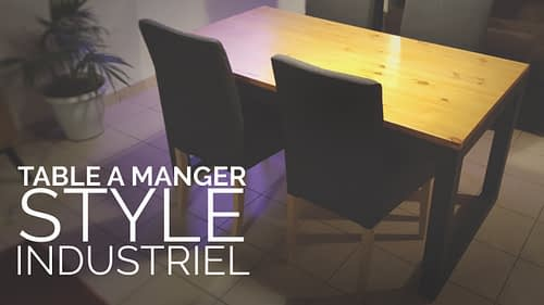 table a manger style industriel