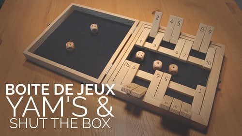 Boite de jeux yam's & shut the box