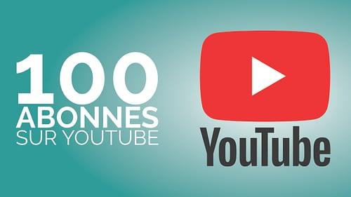 100 abonnés sur Youtube