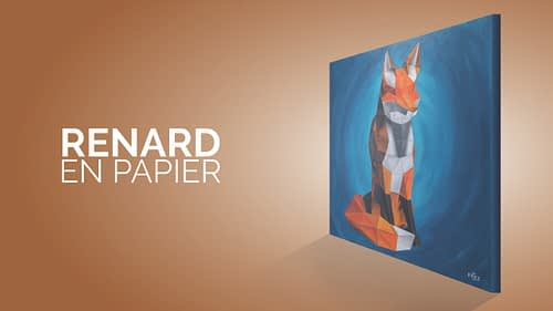 Un renard en papier