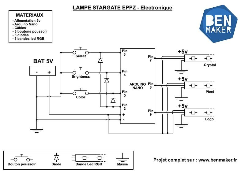 lampe stargate EEPZ - schema electronique